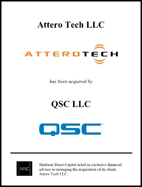 Madison Street Capital Announces Sale of Attero Tech to QSC
